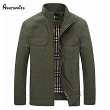 AFS JEEP Brand Men Jackets New Fashion Mens Slim Casual Quality Cotton Businese Jackets Trench Plus Size Free Shipping D179(China)