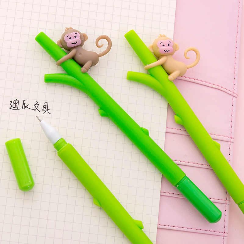 דרום קוריאני חמוד קריקטורה לטפס קטן קוף ניטראלי creative ג 'ל עט סטודנטים מכתבים פלסטיק עט