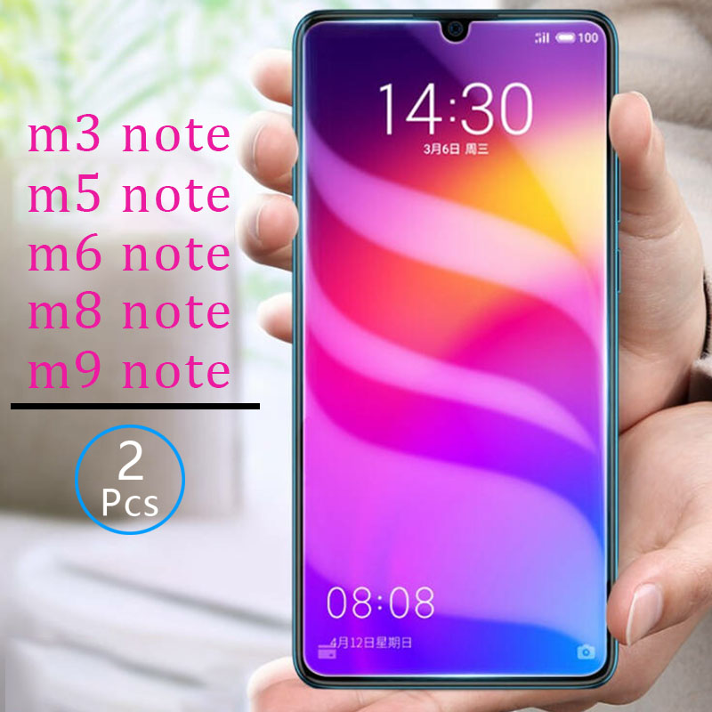 2pcs Tempered Glass for meizu m3 m5 m6 m8 m9 note Protective Glas Screen Protector on maisie m 3 5 6 8 9 not m8note protect film image