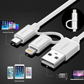 New Ugreen Micro USB Charger Cable for iPhone 7 6 6s 5s iPad for Xiaomi Redmi Note 3 Pro 2 in 1 MFi Data Sync & Charging Cables
