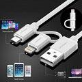 Nueva ugreen micro usb cable cargador para iphone 7 6 6 s 5S ipad para xiaomi redmi note 3 pro 2 en 1 mfi cables de sincronización de datos y carga