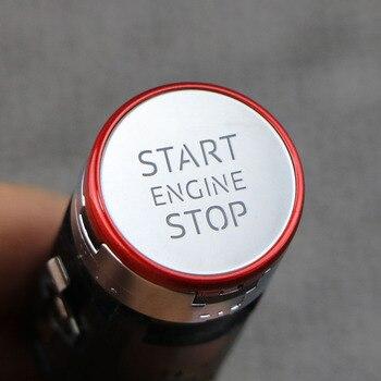 8W1905217E chrom czerwony przycisk Start Stop silnika przełącznik dla Audi A4 B9 S4 RS4 A5 S5 RS5 Q5 2016 2017 2018 2019 8W1 905 217 E