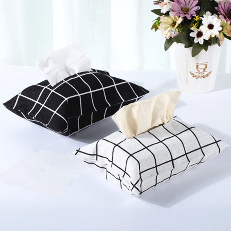 Retro Tissue Box Lattice Style Cotton Lattice Decoration for Toilet Bathroom Living RoomRetro Tissue Box Lattice Style Cotton Lattice Decoration for Toilet Bathroom Living Room