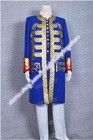 Индивидуальный заказ Пираты Карибского моря 4 капитан Косплэй костюм синий Тренч куртка Хэллоуин