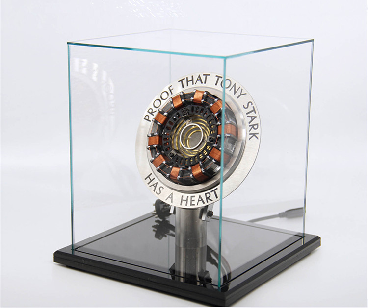 [Funny] Very cool 1:1 scale Iron Man Arc Reactor A generation of glowing iron man heart model with LED Light Action Figure Toy