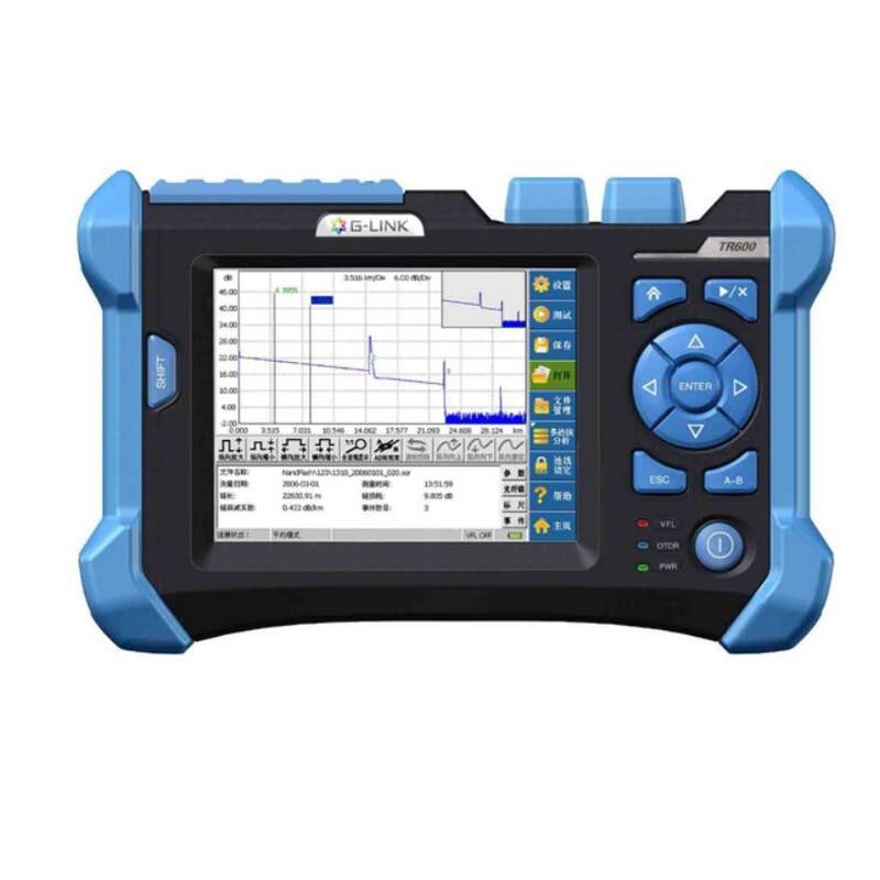 OTDR TR600 SM 1310/1550/1625nm оптический времени домен рефлектометр интегрированный VFL 32/30/28 дБ 120 км с 6,5 дюймовым сенсорным экраном