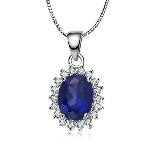 Sterling silver necklace pendant 15ct jewelry pendant wedding sterling silver necklace pendant 15ct jewelry pendant wedding simulate sapphire pendant necklace free necklace silver aloadofball Image collections