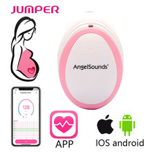 Newest angelsounds fetal doppler JPD-100S mini Ultrasound Prenatal baby doppler with APP funaction for iphone IOS android system