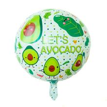 1pcs/ lot 18 inch Round Avocado Balloon Fruit Balloon Kids Birthday Party Decoration Party Supplies Baby Shower Classci Toy(China)