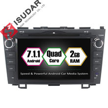 Isudar 2 Din Car Multimedia Player Android 7.1.1 DVD Automotivo For Honda/CR-V/CRV 2006-2011 GPS Radio 2G RAM 16GB ROM Quad Core