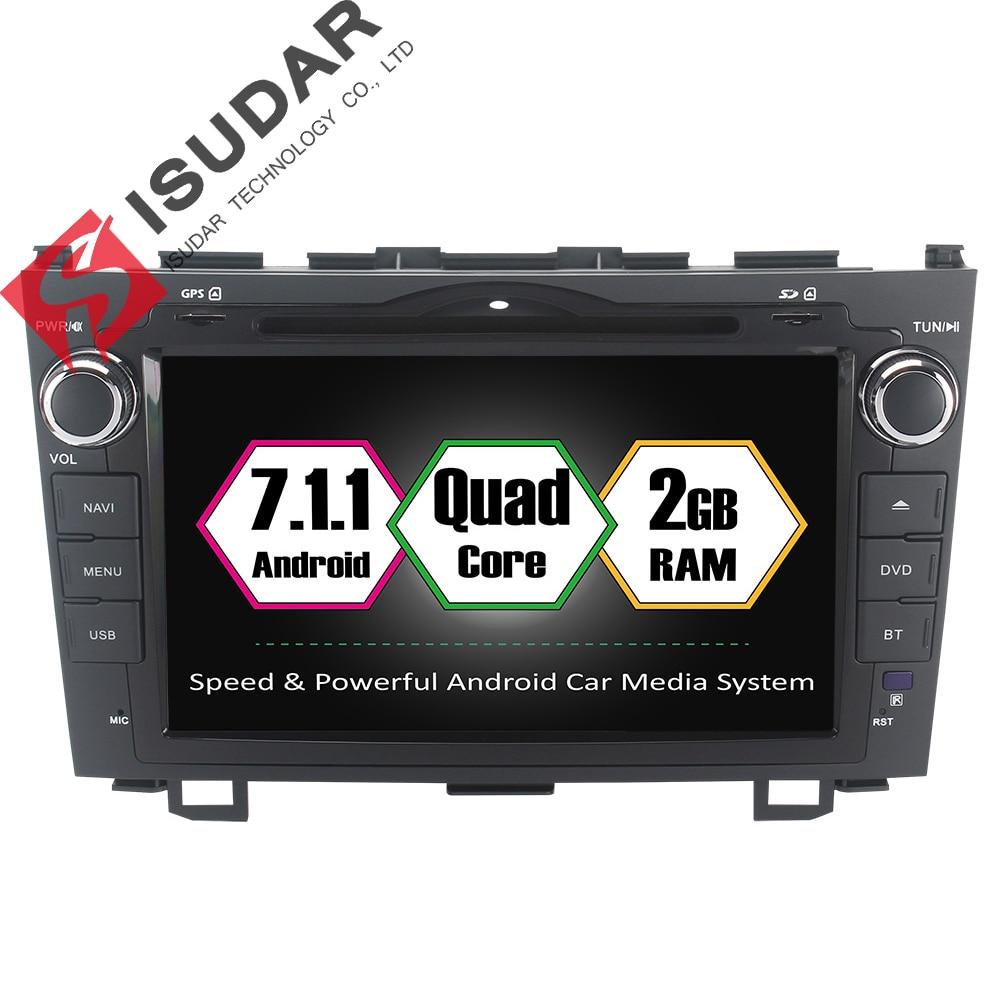 Isudar Car Multimedia Player 2 din DAB Car Radio GPS Android 7.1.1 For Honda/CR-V/CRV 2006-2011 2GB RAM Wifi USB Quad Core OBD2