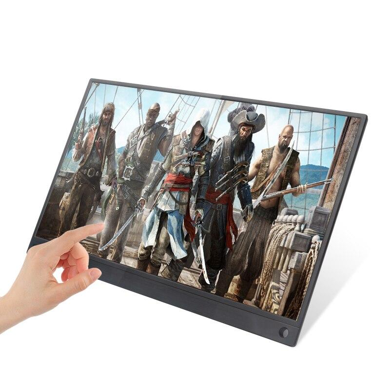 Super mince 15.6 pouces IPS écran tactile pour PS3 PS4 XBOX voiture utiliser moniteur Portable pour PC Portable 1920*1080 P HD écran LCD