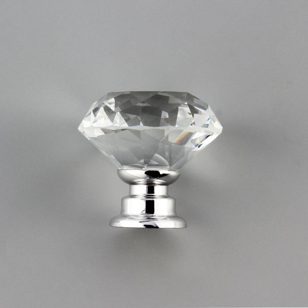 10 Teile/paket 30mm Diamant-form-kristallglas Schubladenschrank ...