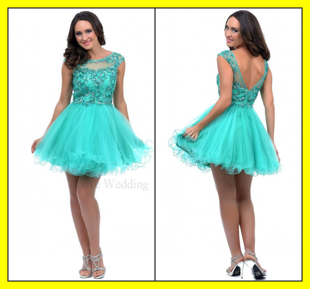 Semi Formal Dresses Homecoming Black Lace Cute Built In Bra Scoop ...