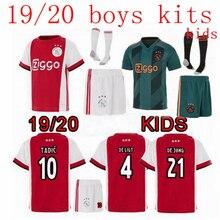 6c11b1fbf65 NIEUWE Ajax Jersey KIDS Kit 19 20 Voetbal shirt champions league thuis weg 2019  2020 TADIC DE JONG DE LIGT ZIYEC Voetbal shirt