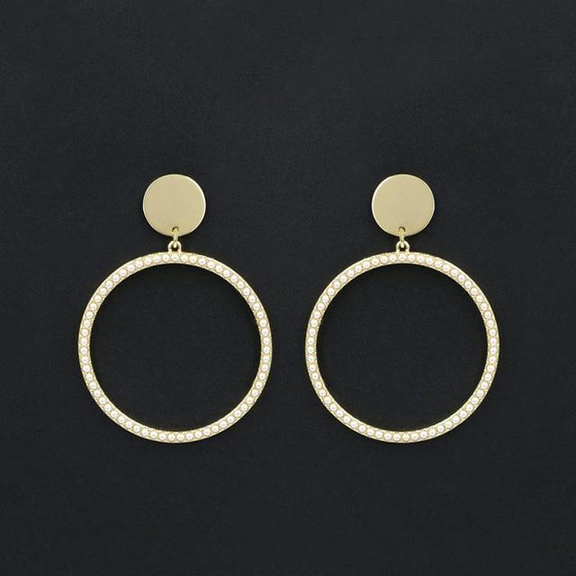 Big Hoop Earrings For Women 925 Sterling Silver Needles Round Circle