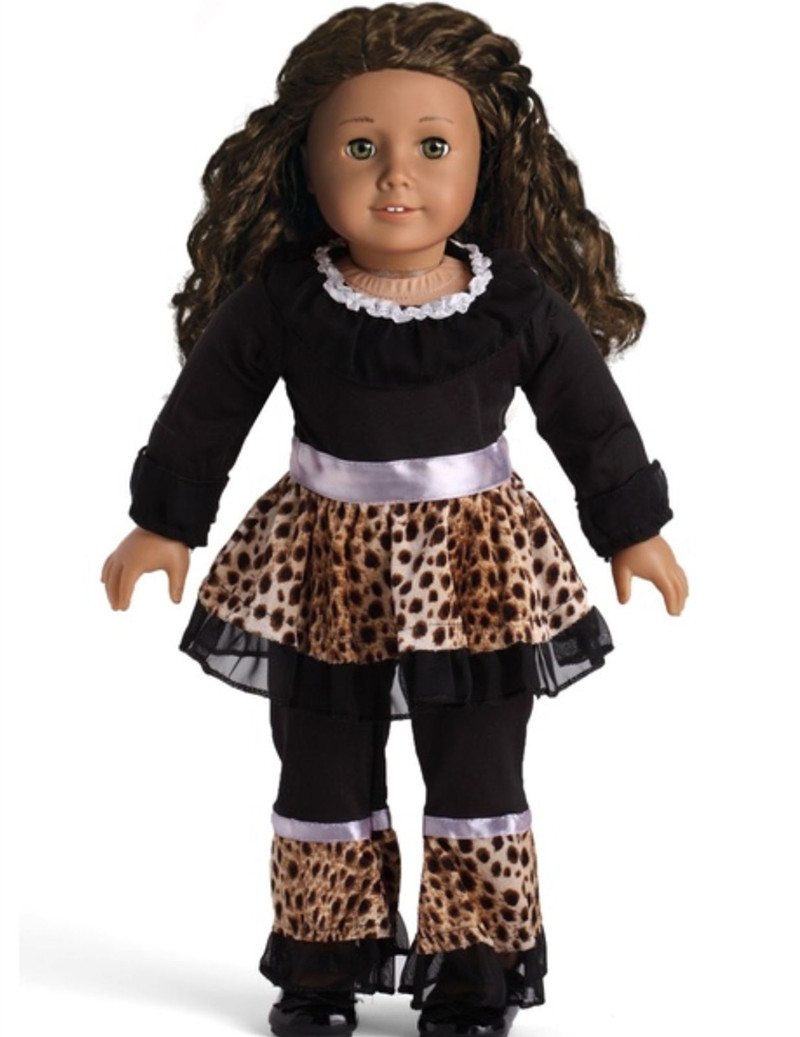 2016 New style Popular 18 inch American girl doll pajamas clothes/dress for Christmas gift ABD-072 9 colors american girl doll dress 18 inch doll clothes and accessories dresses