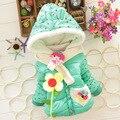 Novas Crianças Casaco Meninas Do Bebê inverno Casacos completa manga do casaco quente da menina casaco de Inverno Casacos Grossos Do Bebê roupa da menina