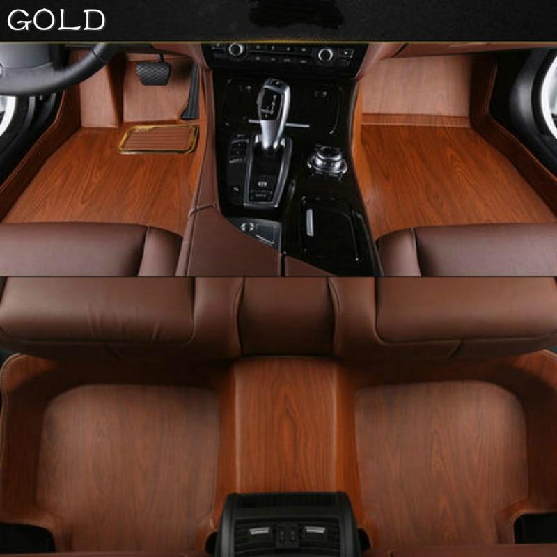 Lexus Rx350 Floor Mats: Full Covered Wood Grain Waterproof Carpets Custom Car