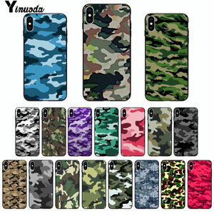 Yinuoda Camouflage Pattern Camo military Army Black Soft Shell Phone Cover for Apple iPhone 8 7 6 6S Plus X XS MAX 5 5S SE XR(China)