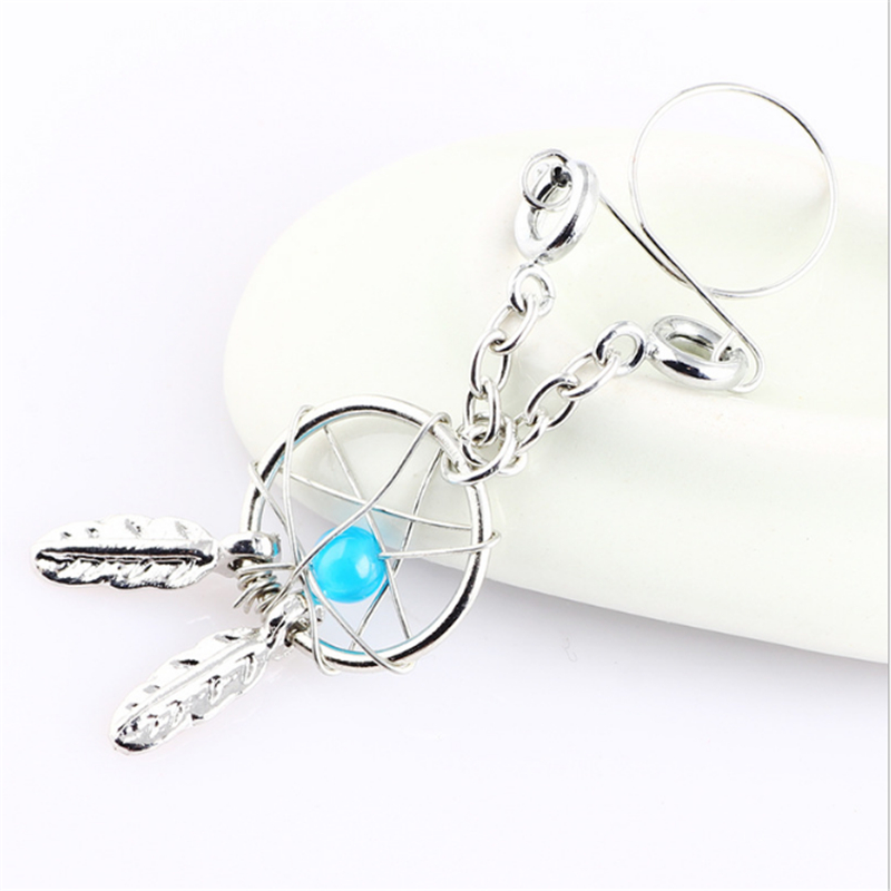 2PCS New Arrival Sexy Non Pierced Nipple Piercing Rings Leaves Beads Clip On Fake Nipple Ring Body Jewelrys Christmas Gifts