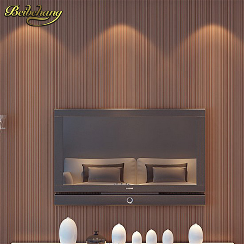 beibehang Classic feature Solid wall paper plain Stripe Non-woven Home Decor papel de parede 3d Wallpaper Roll for Bedroom White living room bedroom wallpaper roll modern solid color non woven thin vertical stripe wall paper mural for walls papel de parede