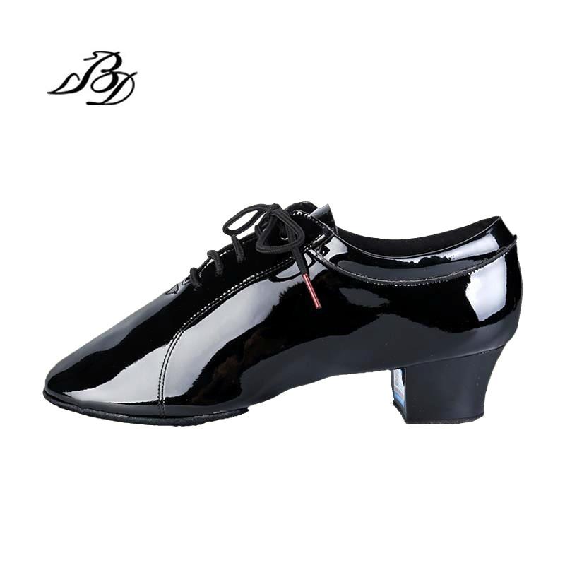 Sneakers Dance shoes Latin Men shoe Christmas Gift BD 419 Patent Leathe Dance school Wear resistant