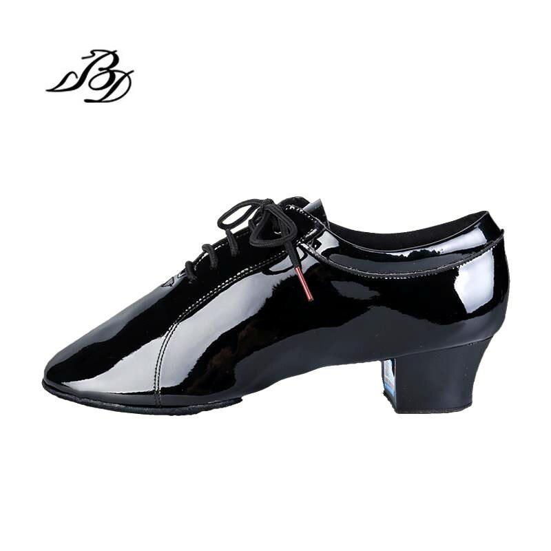 Sneakers chaussures De Danse Latine Hommes chaussures De Noël Cadeau BD 419 Brevet Leathe école De Danse résistant à l'usure Non-slip vachette Souple Semelles