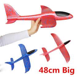 """48 см большой хорошее качество ручной запуск бросали планерный самолет инерционный пены EPP игрушка """"самолет"""" Дети плоская модель"""