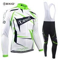 BXIO Cycling Jersey Sets Ropa Ciclismo Bicycle Clothes Winter Thermal Fleece Bicicleta Maillot Culotte Strava Italia Bretelle