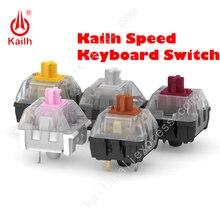 9 sztuk Kailh przełącznik prędkości złoto srebro miedź gruby złoty różowy brąz granatowy dla diy klawiatura mechaniczna SMD MX 3Pins przełącznik