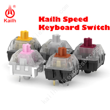 9pcs Kailh speed switch Gold Silver Copper Thick golden Pink Bronze for diy backlit Mechanical keyboard SMD MX 3Pins switch