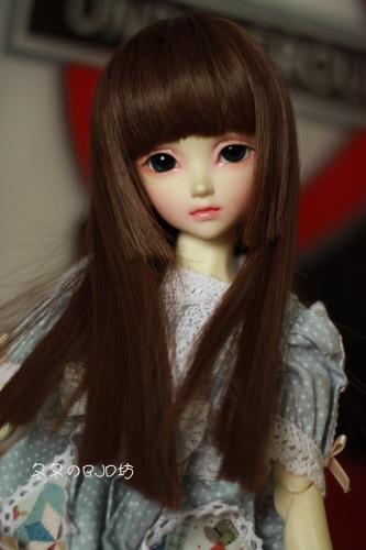 1/3 1/4 1/6 Bjd Wig High Temperature Wire Dark Coffee Colors Straight Beautiful Wig For BJD Hair Wig 1 3 1 4 1 6 1 8 1 12 bjd wigs fashion light gray fur wig bjd sd short wig for diy dollfie