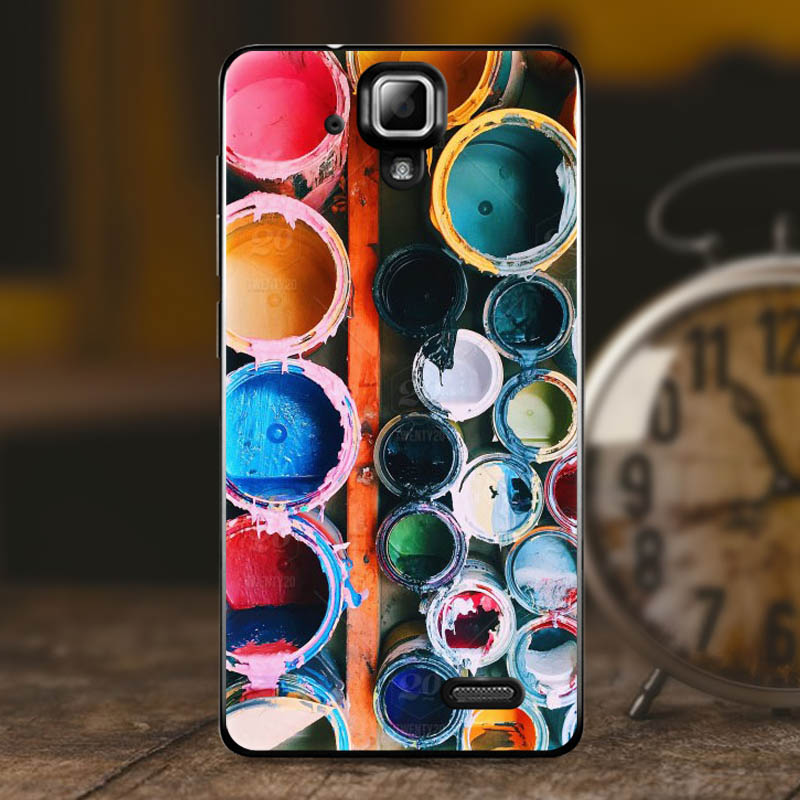Geruide Case Cover For Lenovo A536 5 0 quot soft silicon phone cover For Lenovo A536 cute printing protective Back A536 phone case in Half wrapped Cases from Cellphones amp Telecommunications