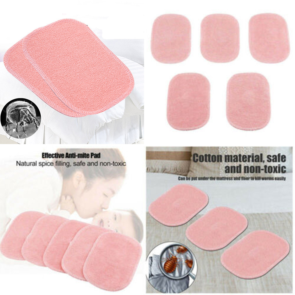 3pcs/5pcs Dust Mite Killing Pad Anti-mite Pad Cushion For Home Hotel Killing Small Worms