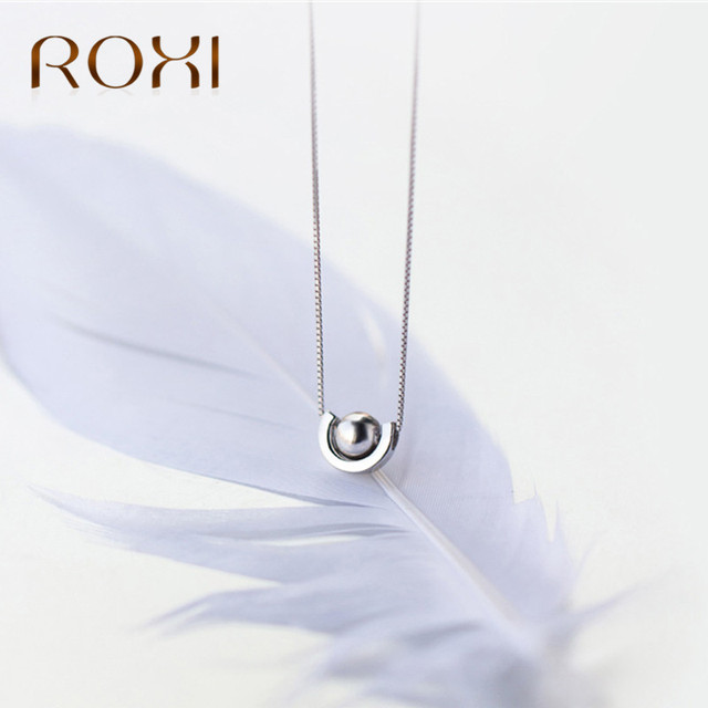 Roxi 925 sterling silver long necklaces fashion sterling silver roxi 925 sterling silver long necklaces fashion sterling silver jewelry u word beads pendant aloadofball Image collections