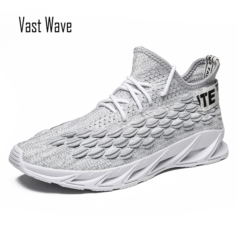 VastWave Summer Breathable Flyknit Shoes Man Casual Shoes for men walking running Sneakers Footwear Zapatos De Hombre