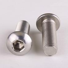304-Stainless-Steel Plate Bolts Mushroom-Head Screws Hexagonal DIN7380 10PCS M6--20mm