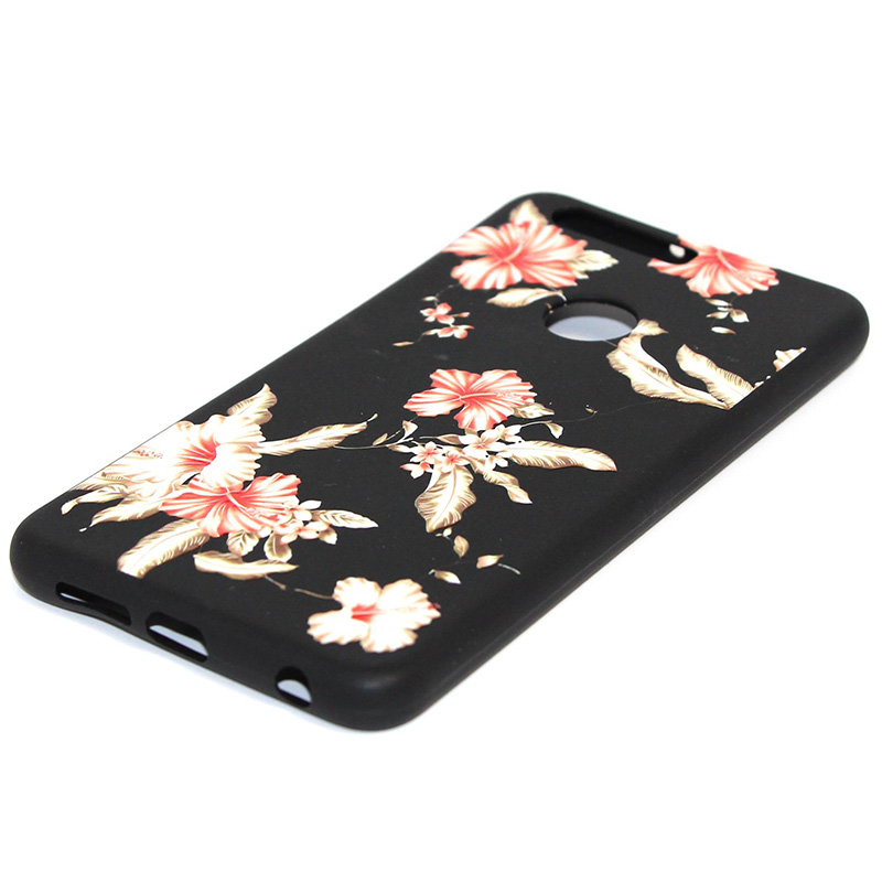 3D Relief flower silicone case huawei honor 8 (37)