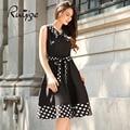 2017 ruiyige nueva llegada vendimia de las mujeres más el tamaño de punto elegante oficina formal del partido de tarde sexy elbise vestitos summer dress