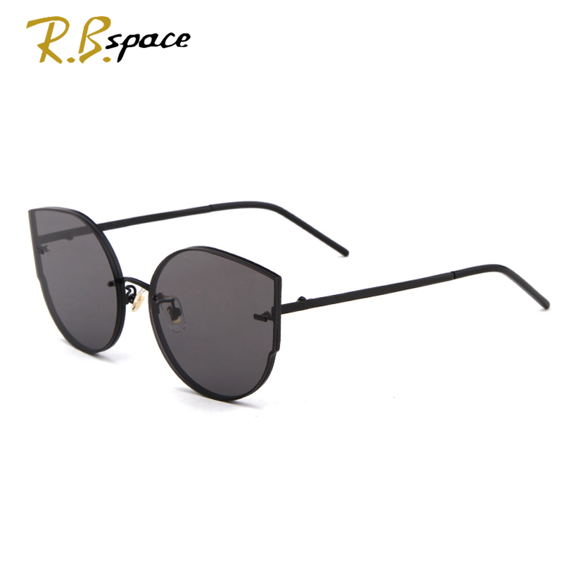 R.B.space summer Fashion Color transparent Women Sun glasses Oversized Cat Eye Sunglasses Woman Luxury Brand Designer oculos ...