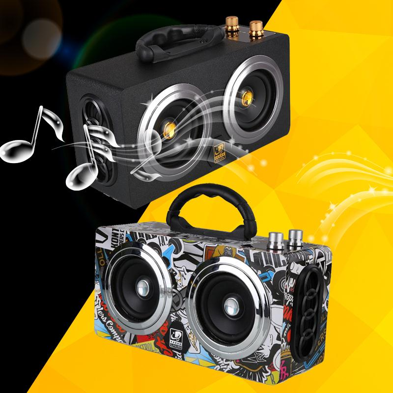 Outdoor Portable Wireless Speakers Mini Bluetooth Speaker Stereo Subwoofer Support TF USB AUX FM Radio freeshipping Hot