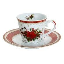 Ceramic Espresso Set Teacups and Saucer, Coffee cup & Saucer, Coffee Cups Tea Cup Saucers, Coffee Teaware Mugs Set