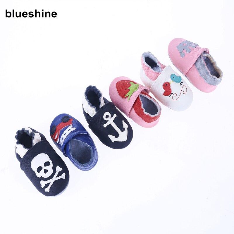 1 Paar Frühling Herbst Echtem Leder Weihnachten Geschenk Erste Wanderer Baby Jungen Schuhe Baby Mokassins Mädchen Weiche Sohle Prewalker