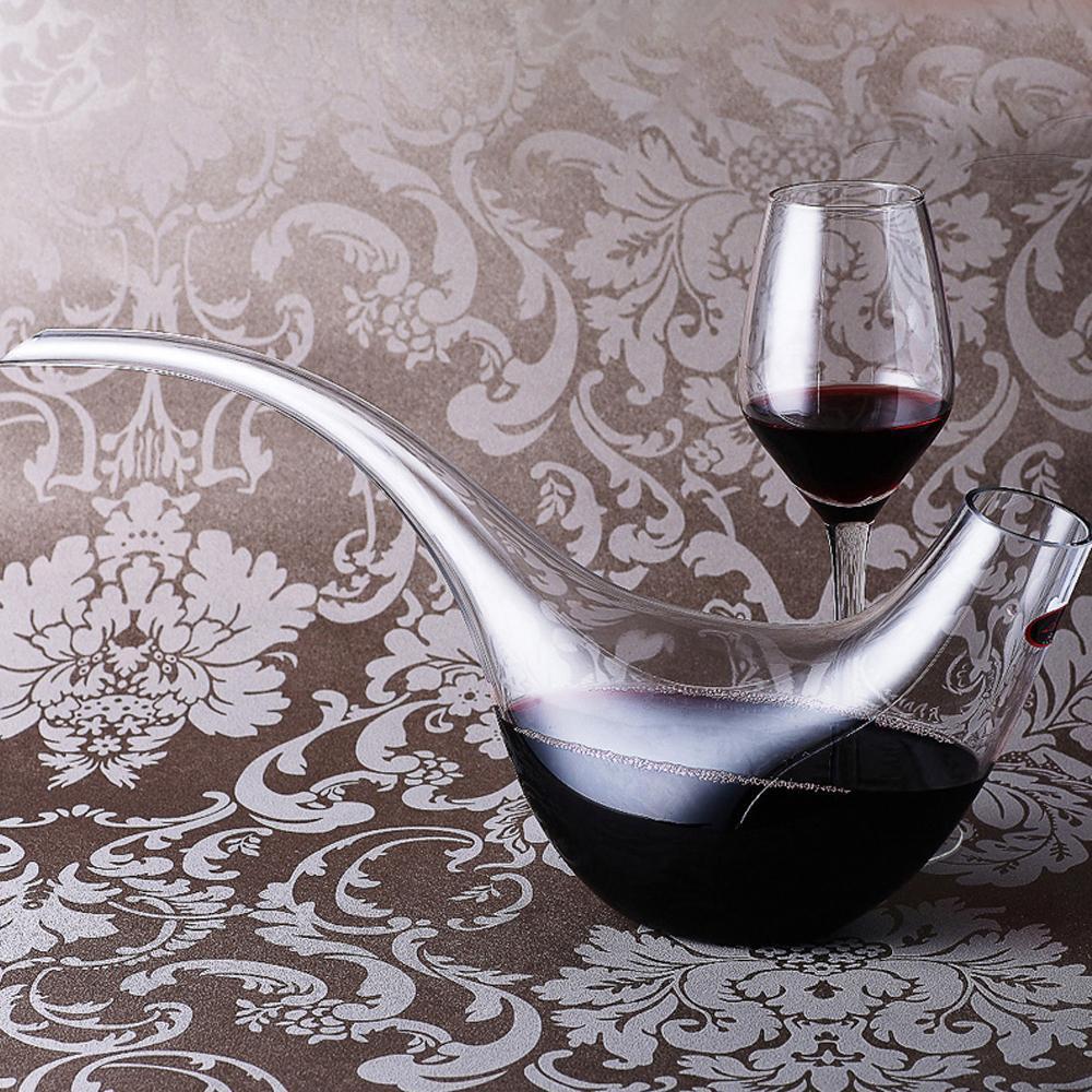 1000 мл стеклянный графин для вина в форме птицы Модный кувшин для бутылок Аэратор для вина высшего качества Контейнер для вина Графиновый кувшин Посуда для инструментов Графин à vin originale