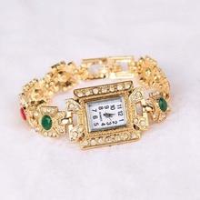 Rhinestone Gold Wristwatch