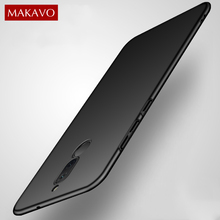 MAKAVO For Huawei Mate 10 Lite Case Matte Hard 360 Protection Back Cover For Huawei Nova