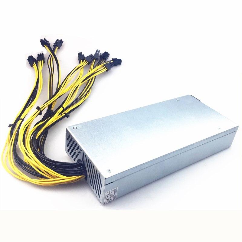 1U minière PSU Pc alimentation 1800 w 6 P mineur alimentation pour bitcoin 1800 w 1U Antminer PSU alimentation pour S9 L3 + E3 X3 D3 S7