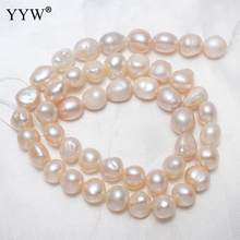 Cultured Baroque Freshwater Pearl Beads Natural 9-10mm Approx 0.8mm AAA Sold Per Approx 15.5 Inch Strand Jewelry Making DIY(China)
