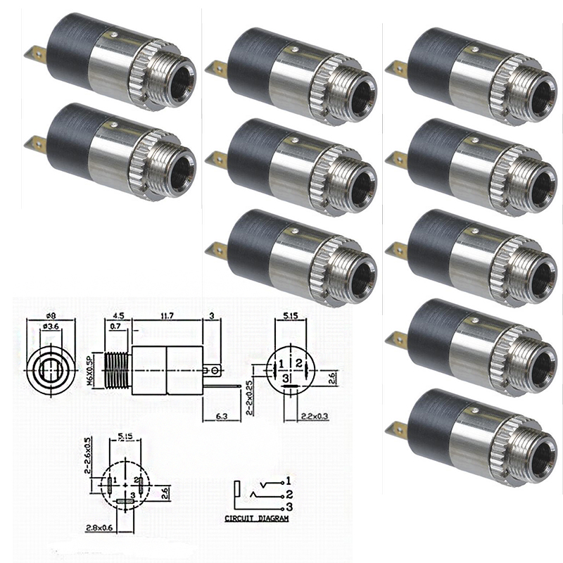 accessories sockets uxcell 10 pcs chassis mount female 3 5mm mono jacks  socket connectors
